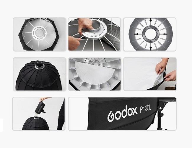 Softbox Godox P90L 16 cạnh 90cm hàng chính hãng.