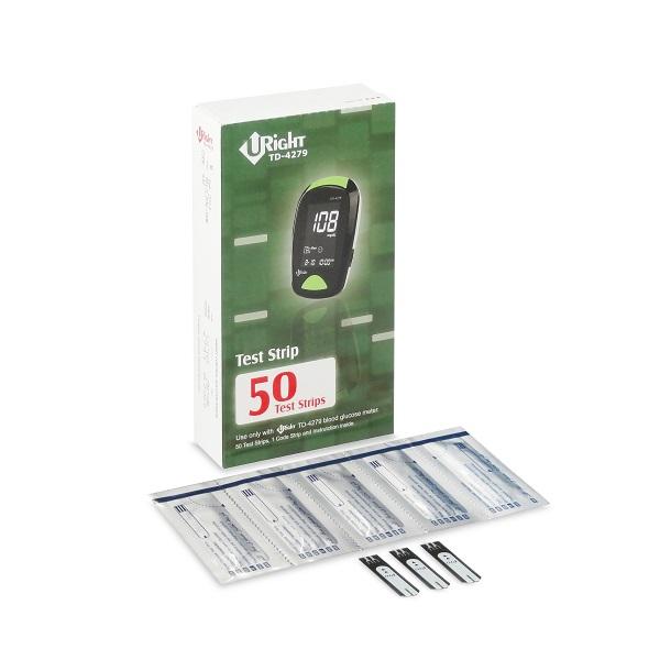 Que thử đường huyết Uright dùng cho máy đo đường huyết TD4279 (Hộp 50 que)