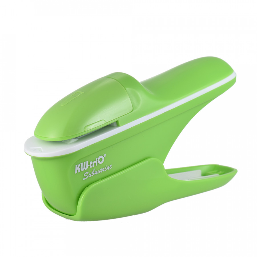 Hand-held Mini Safe Stapler without Staples Staple Free Stapleless 7 Sheets Capacity for Paper Binding Business - Green
