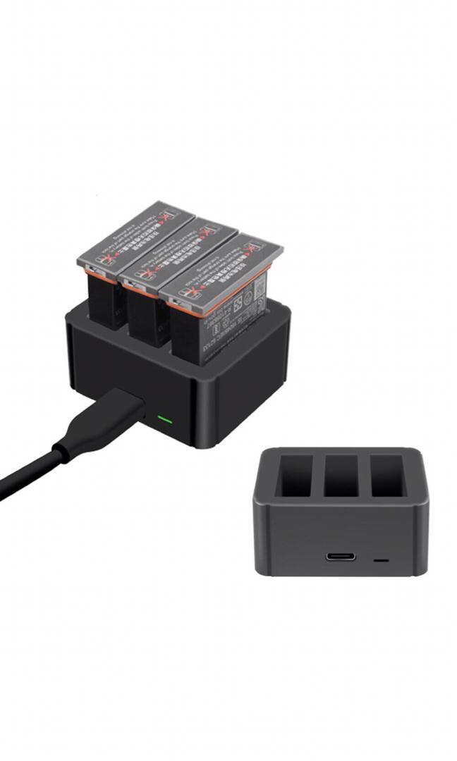 Bộ sạc pin 3-in-1 Osmo Action Charging Kit - hàng nhập khẩu