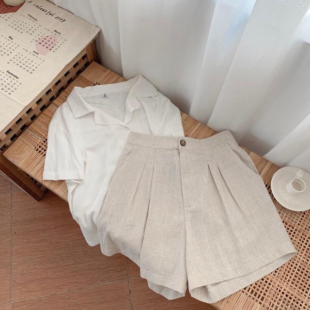Linen shorts- quần linen