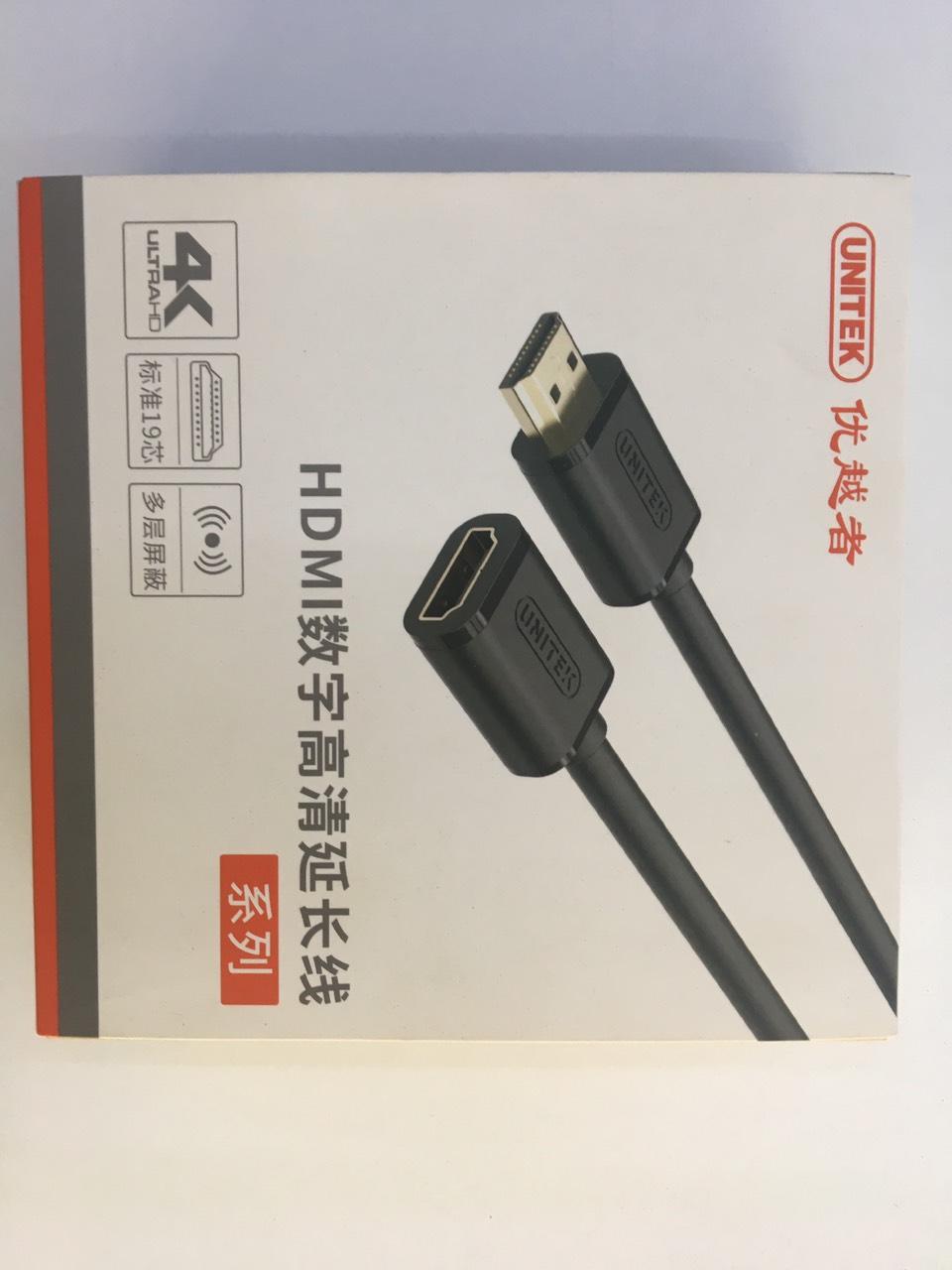 Cáp nối dài HDMI 1m Unitek Y-C164K - Chính hãng