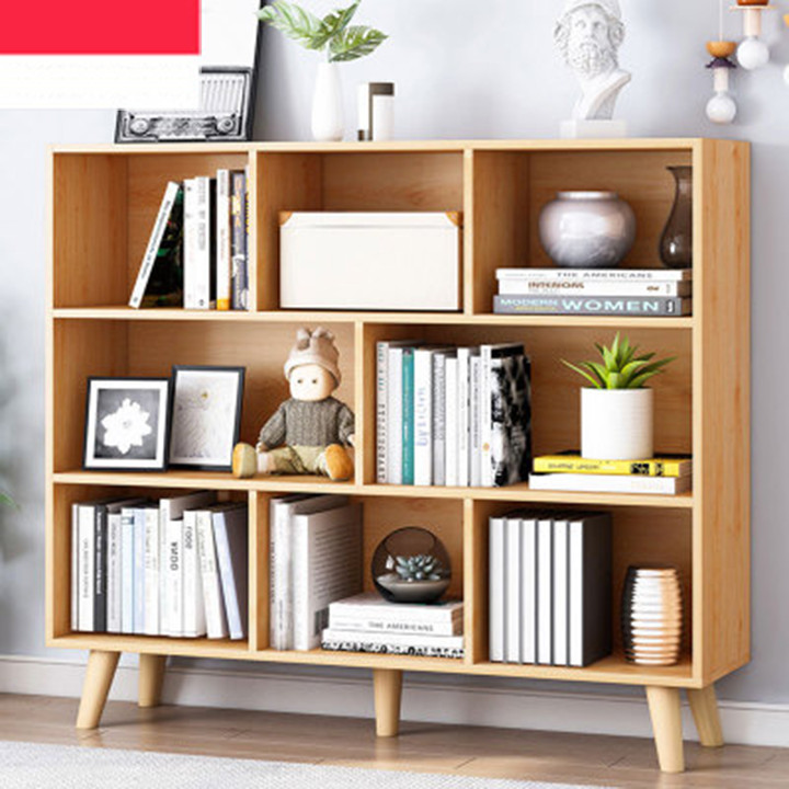 Tủ sách đứng, tủ kệ sách đứng, Kệ sách đa năng giá sách gỗ MDF nhiều ngăn cao cấp MGK018
