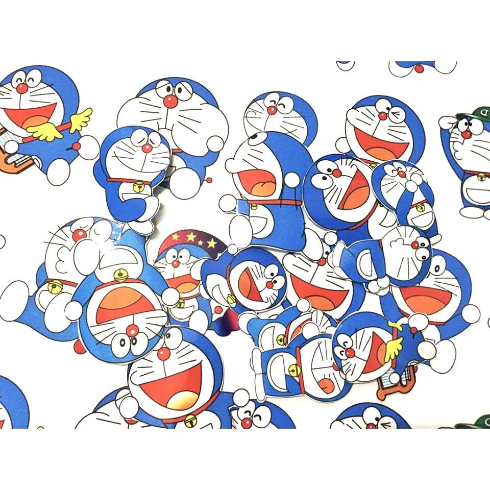 Set 30 Sticker Doraemon có ép lụa