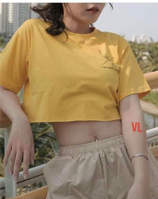 Áo croptop Your chữ ngực BLA0719