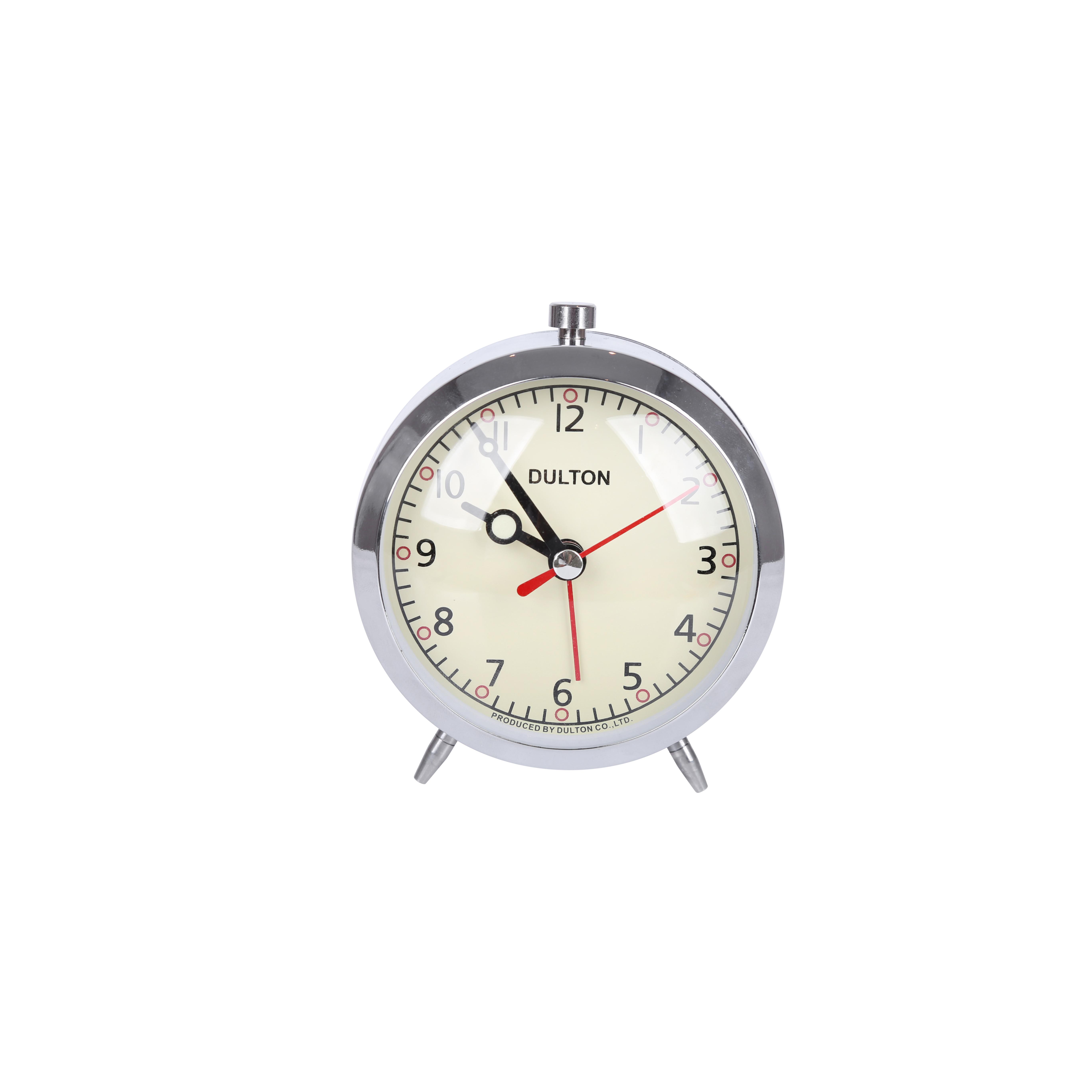 Đồng hồ hẹn giờ để bàn Dulton, chất liệu kim loại, kích thước 9x7x11cm