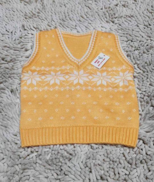 (3-5tuoi) áo gile len bé gái