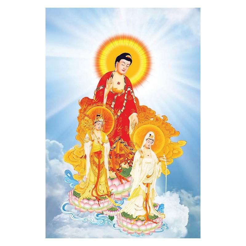 Tranh Phật Giáo Tam Thánh 568