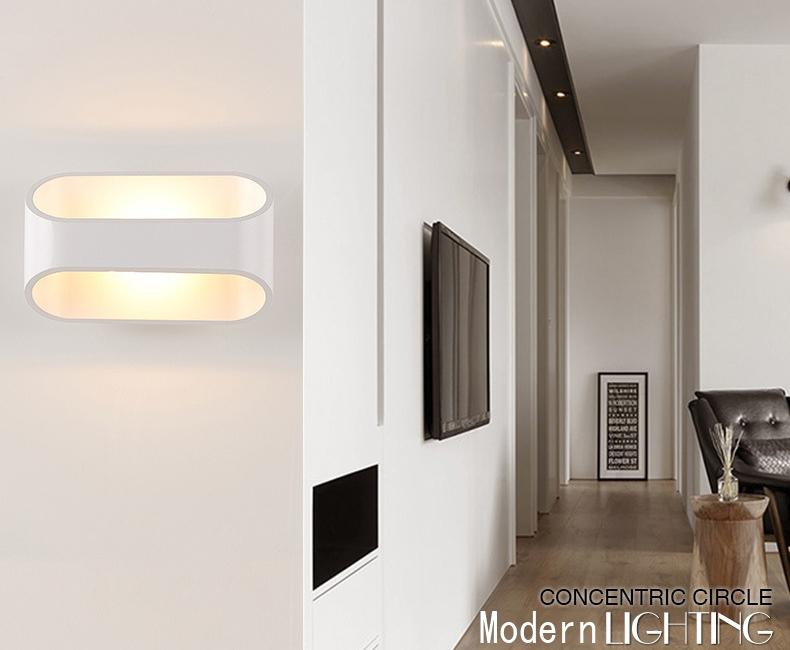 Đèn gắn tường trang trí hiện đại bo tròn mềm mại .