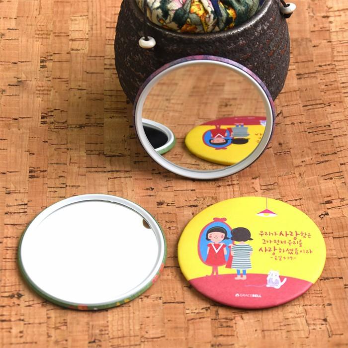 Gương mini Trang Điểm Hàn Quốc Tròn (Mẫu Ngẫu Nhiên)