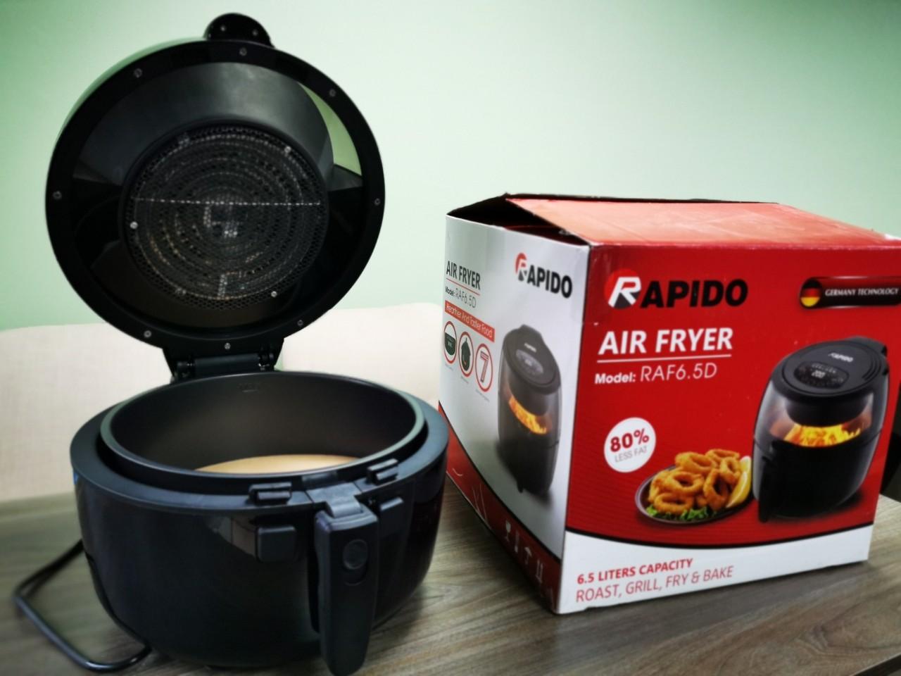 Nồi chiên không dầu Rapido RAF6.5D (Điều khiển điện tử) - Hàng chính hãng - Nồi  chiên | SieuThiChoLon.com