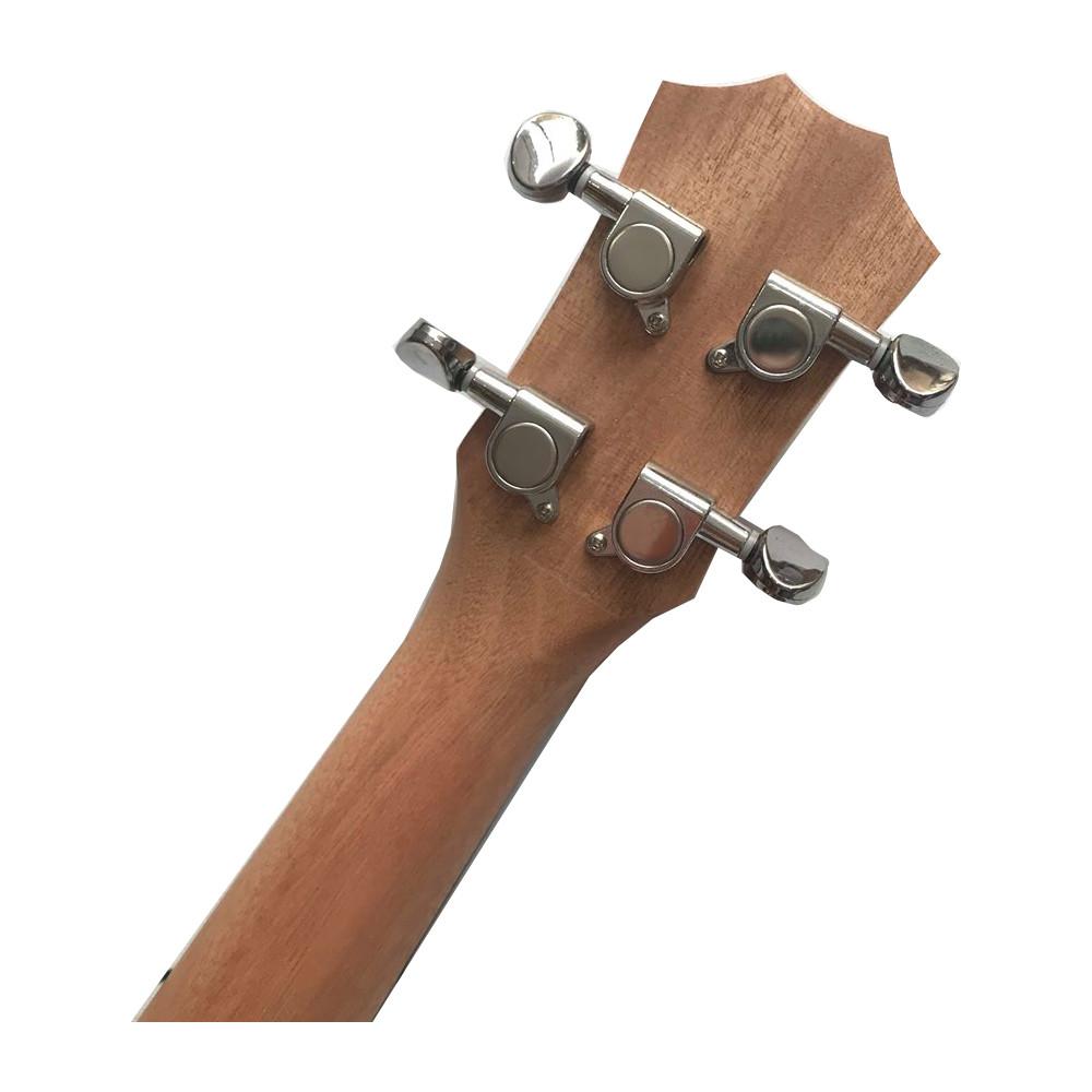 Đàn 4 dây size concert dễ tập - ukulele gỗ tốt tạo âm vang màu nâu gỗ UKLLGDNB