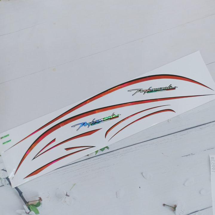 Tem chỉ, decal dán dành cho xe máy HONDA SH performenle màu ĐỎ - TB G411
