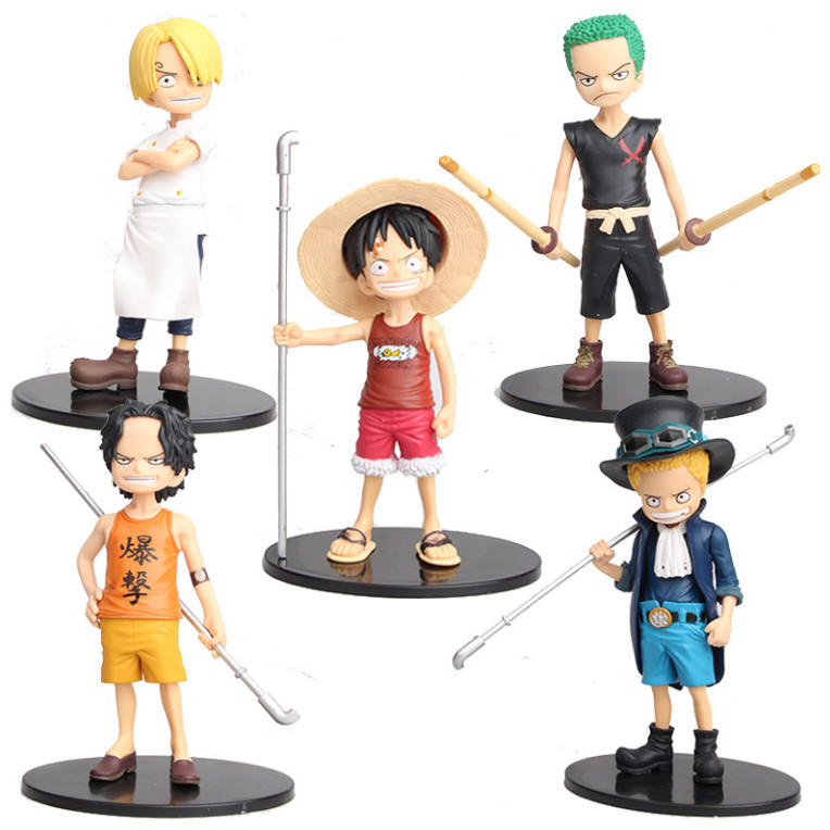 Bộ 05 Mô Hình Nhân Vật One Piece - Cao 15cm