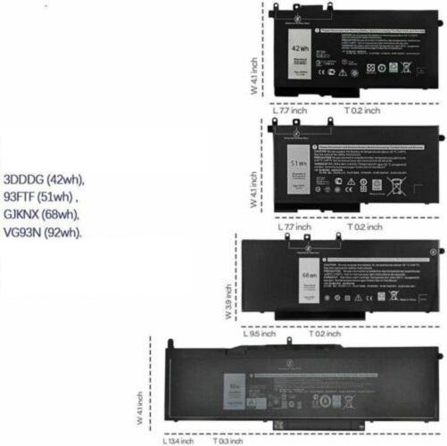 Pin dành cho Laptop DELL LATITUDE 5280 5290 5480 5490 5491 5495 5580 5590 GJKNX 7.6V 68WH