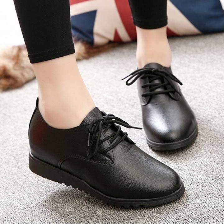 Giày oxford đế độn 4 phân - Giày nữ đế thấp S161