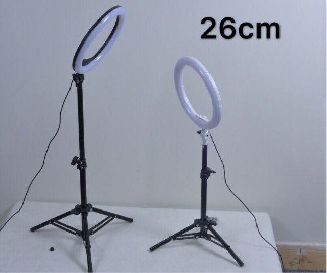 Đèn Led 26cm hỗ trợ ánh sáng livestream bán hàng online ( kèm cả chân và kẹp điện thoại ) (tặng kèm đầu đọc thẻ nhớ cao cấp)