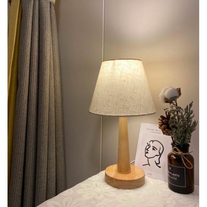 Đèn ngủ để bàn chân gỗ phong cách Nhật Bản NB01 - tặng kèm bóng LED tiết kiệm điện - HÀNG CÓ SẴN