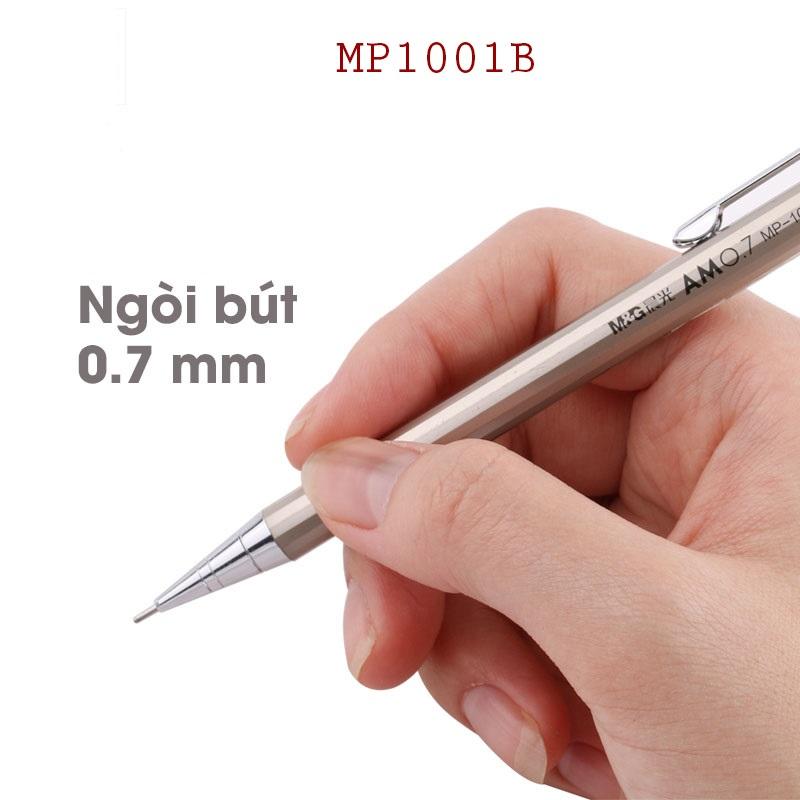 Bút chì kim bấm inox M&G MP1001A-MP1001B ngòi 0.5mm, 0.7mm