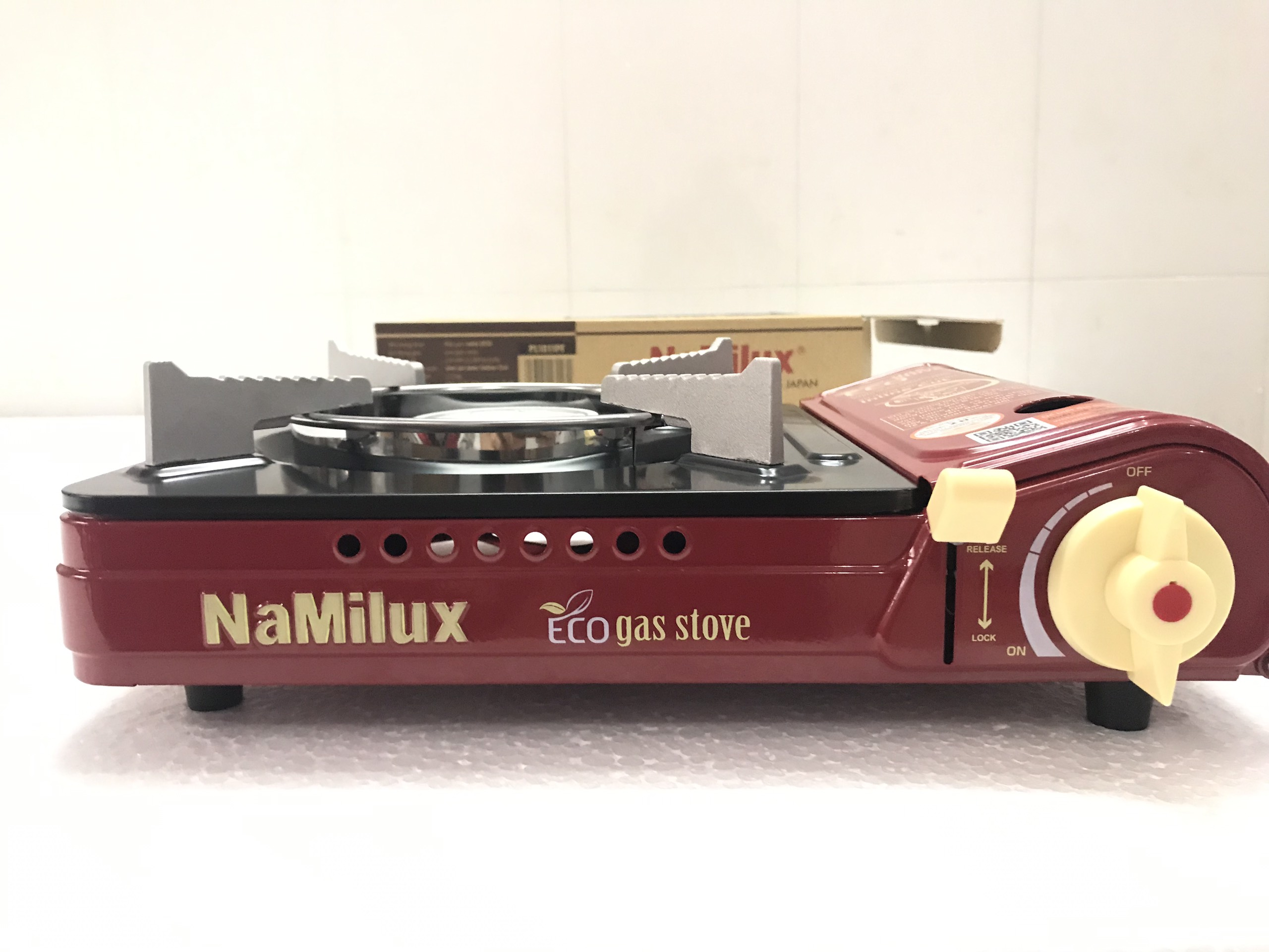 Bếp ga mini Namilux PL-1911PF nhỏ gọn tiện lợi khi đi du lịch (Màu ngẫu nhiên)-Hàng Chính Hãng