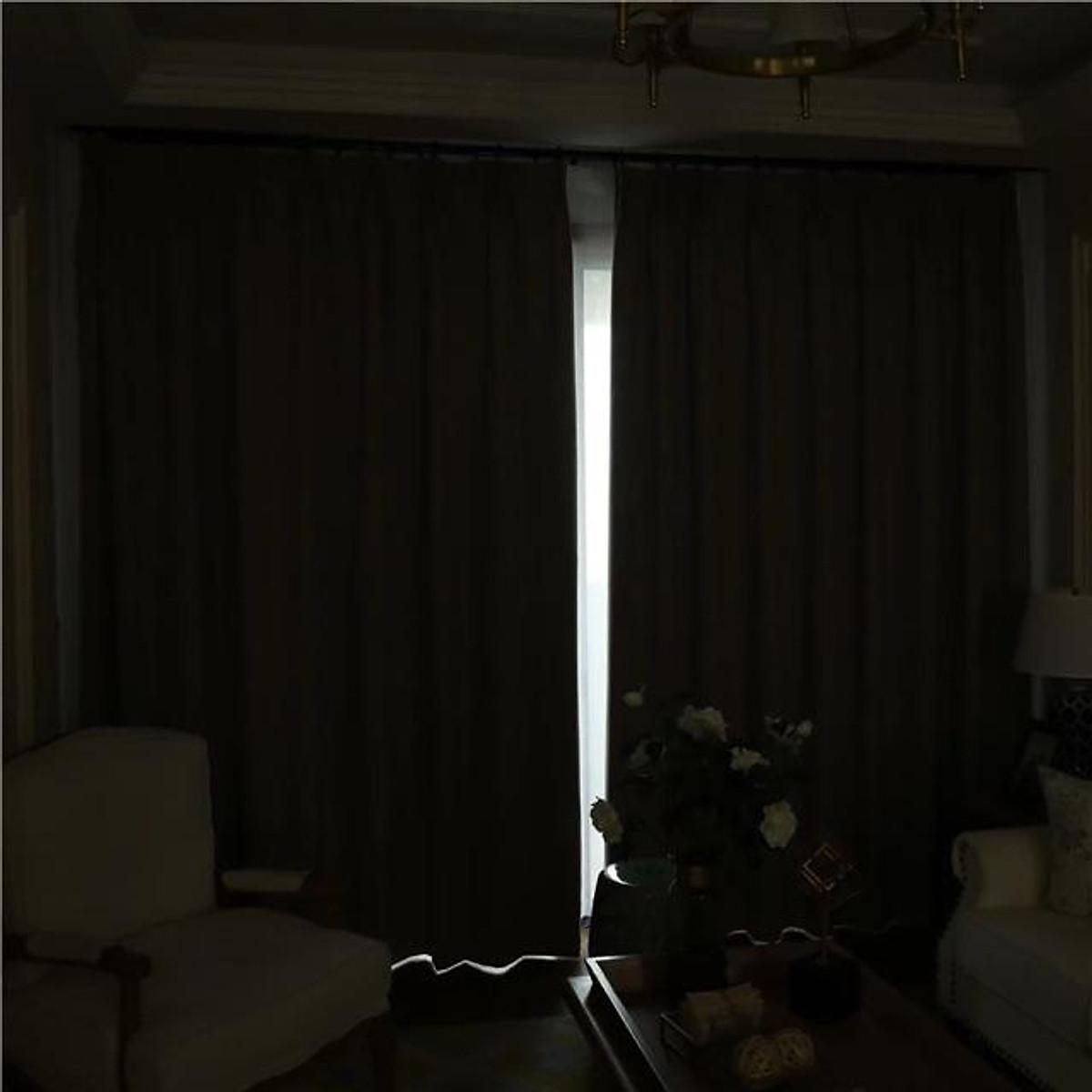 Rèm vải tráng cao su non, chống nắng 100%, chống nước tránh ẩm mốc - Cao cố định 2.7m
