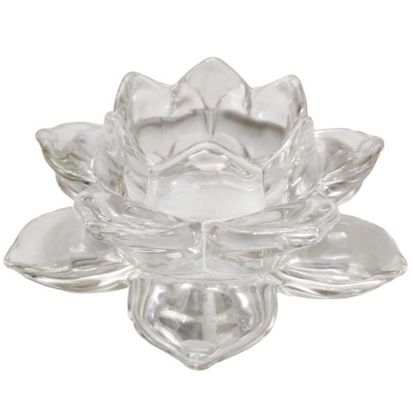Cặp Đế Nến Thủy Tinh Cao Cấp - Chân Đựng Nến Tealight - Nhang Thiền