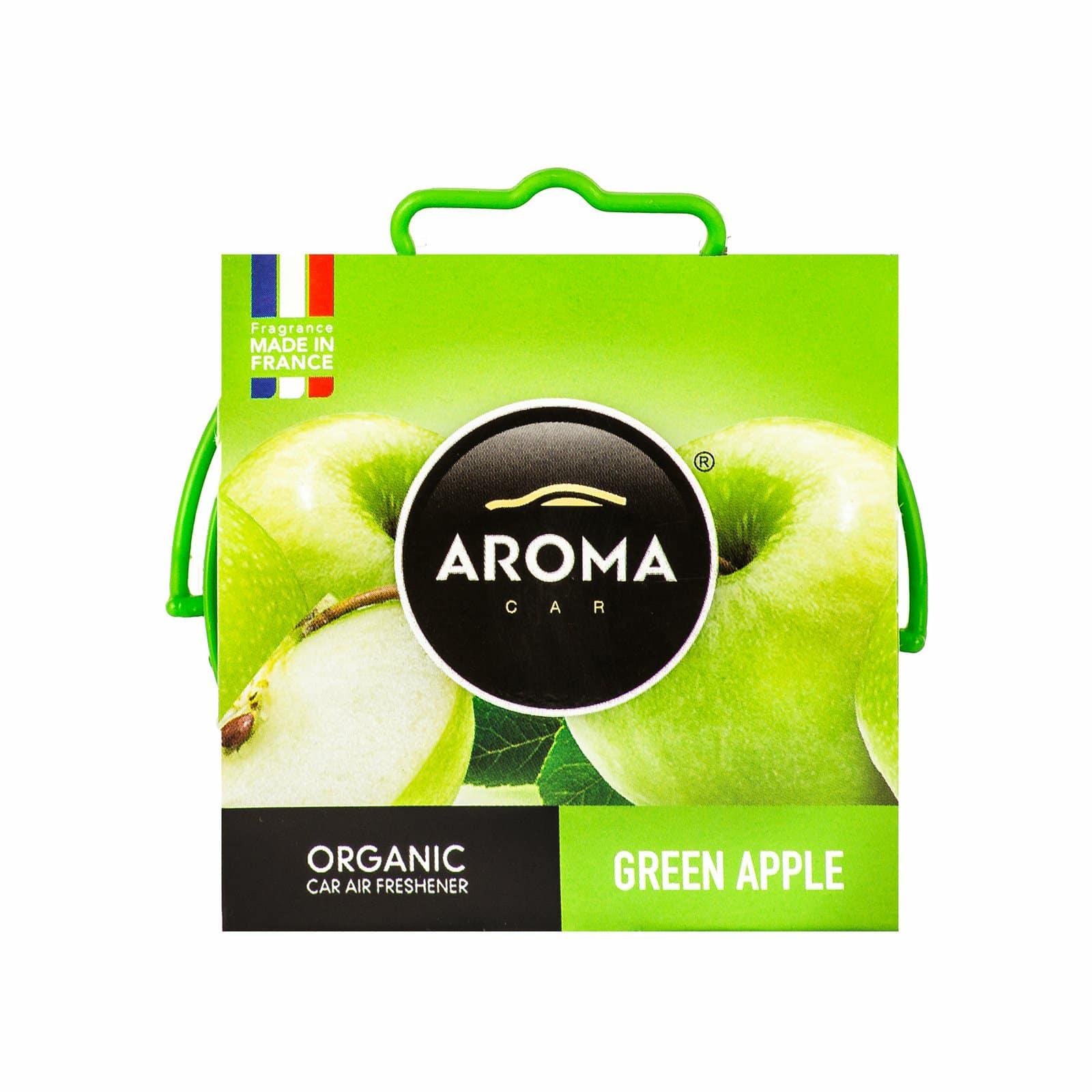Sáp thơm ô tô Aroma Car Organic 40g - Green Apple (Hương táo xanh)