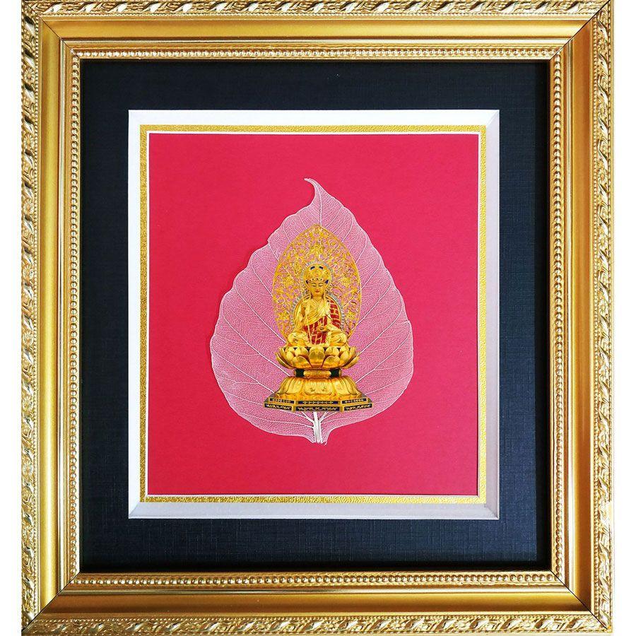 Tranh Phật Trên Lá Bồ Đề HPB-19