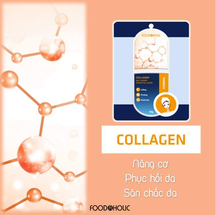 Combo 10 mặt nạ cấp cứu cho làn da khô ráp ( Bird's Nest, Vitamin A, Collagen) 3D Foodaholic Essential Mask 23g