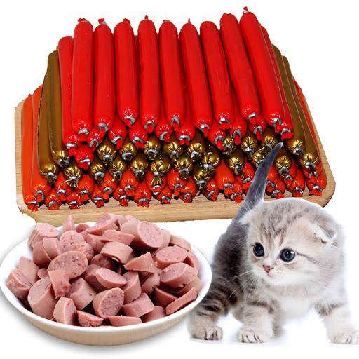 Đồ cắn gặm xúc xích cho chó mèo 10 cây mix vị