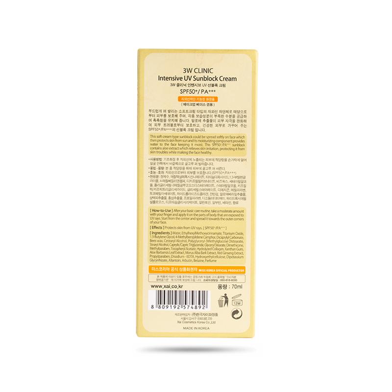 Kem Chống Nắng Chuyên Sâu 3W Clinic (70 ml)
