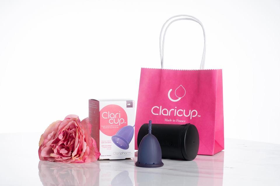 Combo 2 bộ cốc nguyệt san Claricup tặng 1 hộp viên tiệt trùng +2 túi vải