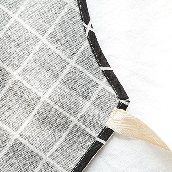 Tạp dề vải caro (màu ngẫu nhiên)