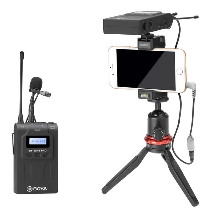 Micro Thu Âm Wireliess UHF Boya BY-WM8 PRO-K1 - Hàng Nhập Khẩu