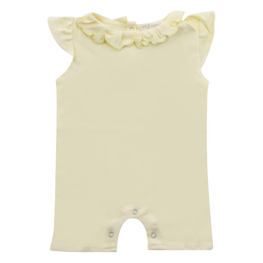 Bodysuit Bé Gái Ngắn In Hình K&K Babies And Kids BODY003 - Vàng Nhạt