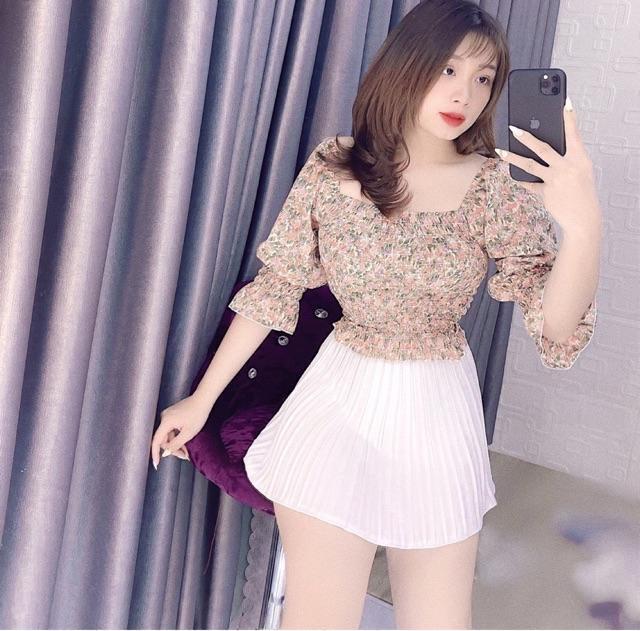 Áo kiểu nữ nhún ngực siêu đẹp