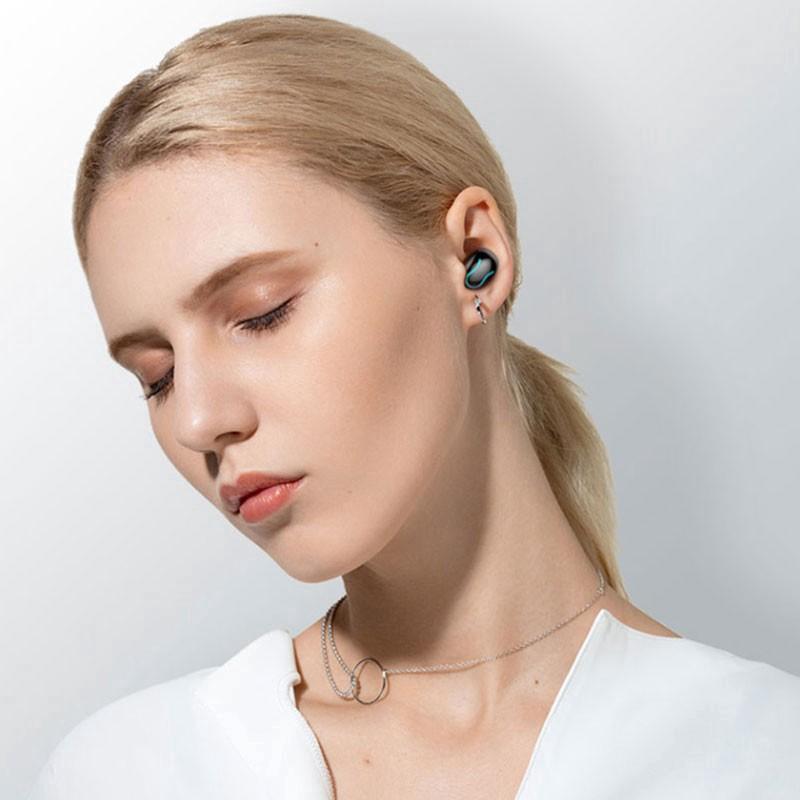 Tai Nghe 2 tai Bluetooth Không Dây HBQ-Q32 - Chống Nước IPX5 - Nghe 60h - Tích Hợp Micro - Tự Động Kết Nối- Hàng chính hãng