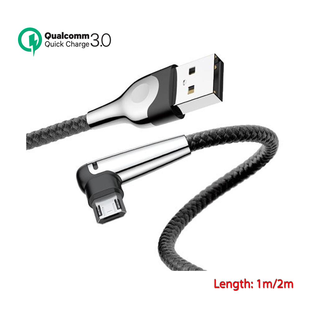 Cáp sạc nhanh Baseus Sharp Bird Micro USB 3A Max - sạc nhanh đầu L (chuyên dùng cho game thủ)- Hàng Chính Hãng