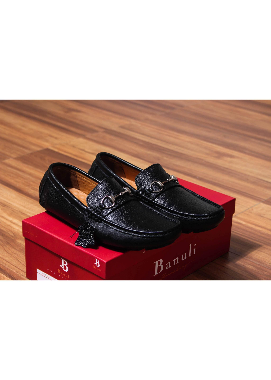 Giày lười, phong cách giày mọi, giày nam C8ML2T0 da bò Banglades, chính hãng Banuli