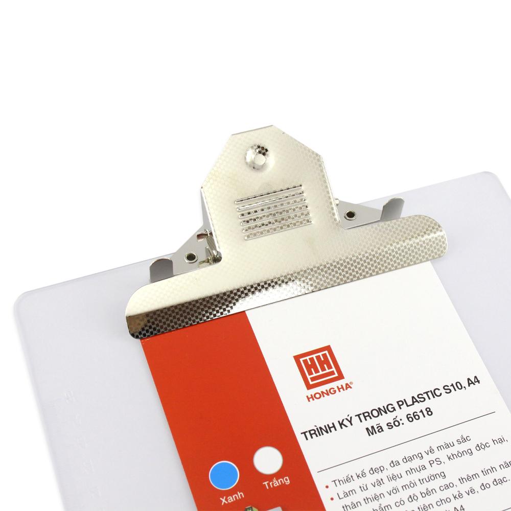 Trình ký trong Plastic A4 Hồng Hà S10 6618 (3 cái) - Giao màu ngẫu nhiên
