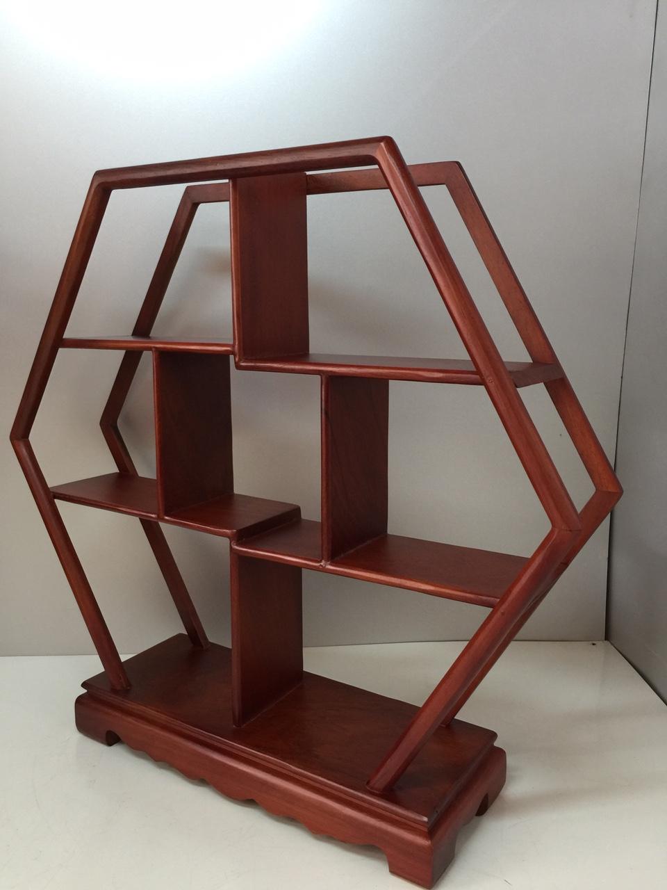 Kệ gỗ trang trí ( gỗ gỏ đỏ)  - Ngang 45, sâu 11, cao 41 cm