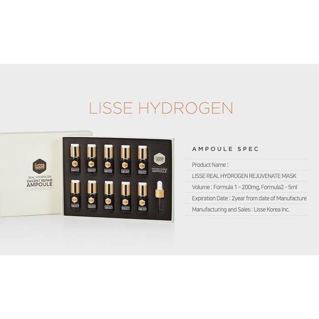 Serum tinh chất Lisse Real Hydrogen Exigent Repair Ampoule Combo 3 Lọ Liệu Trình 21 Ngày (5ml/lọ)