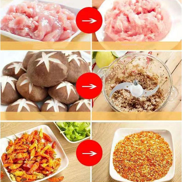 Máy xay thực phẩm đa năng tiện dụng (Tặng kèm 1 lưỡi dao kép)