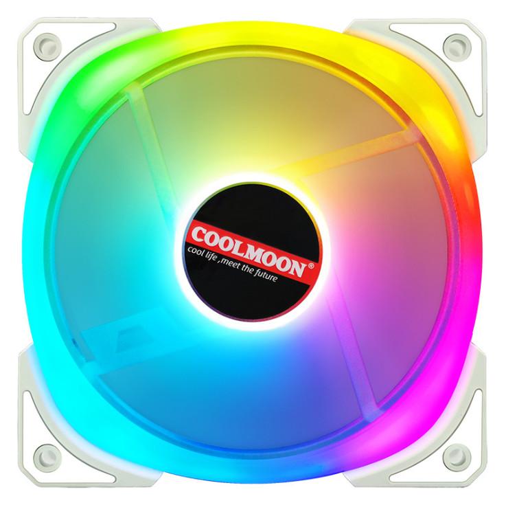 4 Quạt Tản Nhiệt, Fan Case Coolmoon Kèm Bộ Hub Và Remote - Hàng nhập khẩu