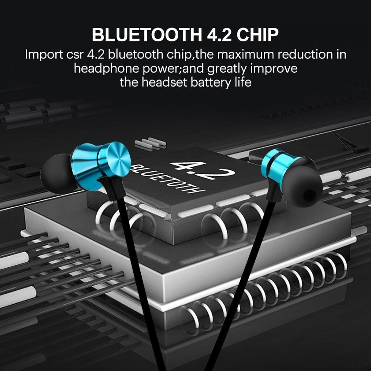 Tai Nghe Bluetooth Nhét Tai Có Dây XT-11 + Tặng Hộp Quẹt Bật Lửa Bay Sử Dụng Gas Đá Cao Cấp (Màu Ngẫu Nhiên)