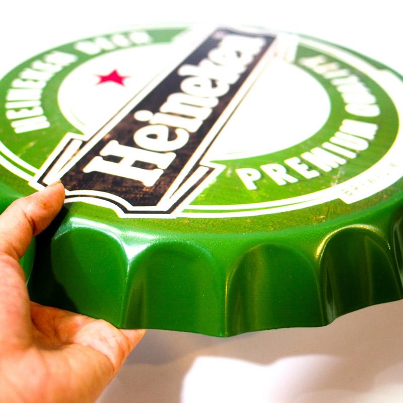 Beer Heineken - Nắp phén 35cm vintage decor trang trí