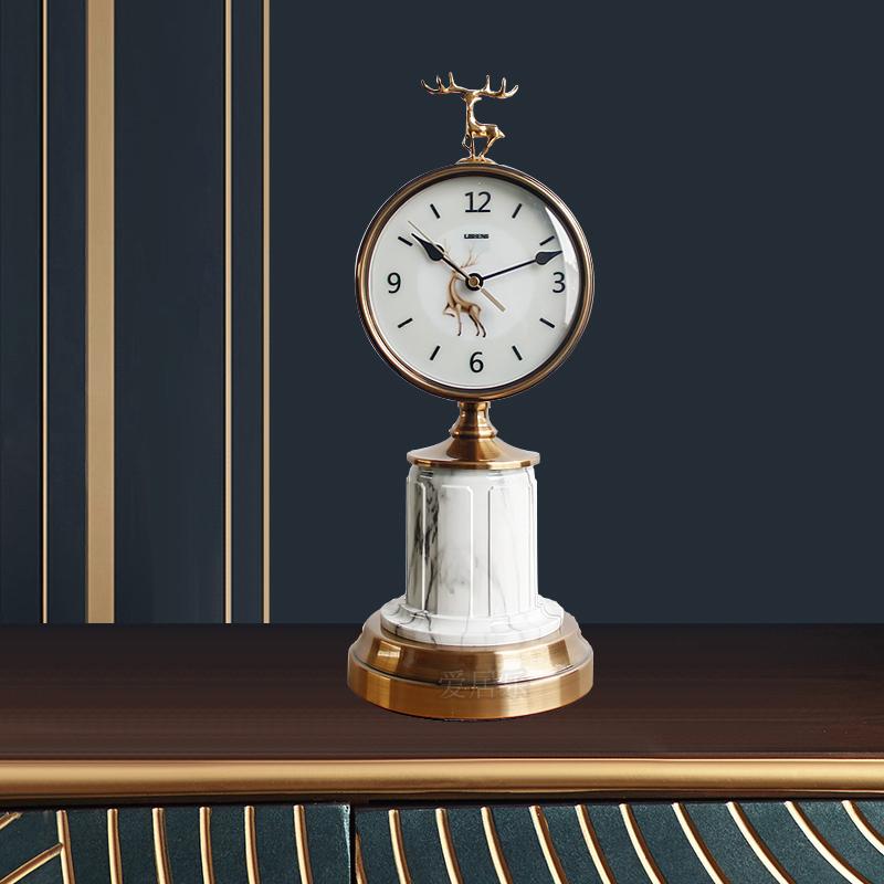 Bộ tượng hươu kèm đồng hồ để bàn trang trí sang trọng T69