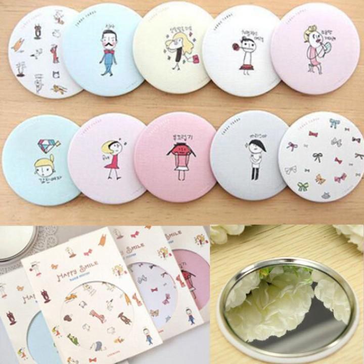 Gương trang điểm mini bỏ túi Hàn Quốc dễ thương cute