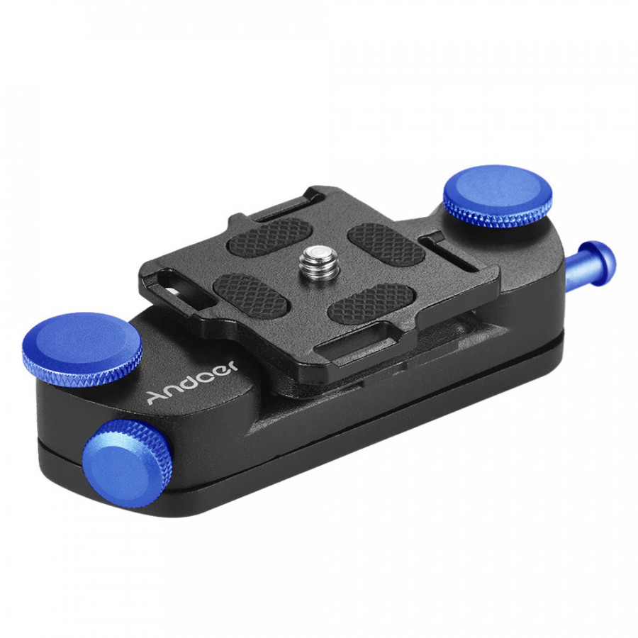 Andoer Metal Quick Release Camera Waist Belt Strap Buckle Button Mount Clip for Canon Nikon Sony DSLR Cameras Max. Load - Blue - 23416881 , 9412369821294 , 62_15454989 , 455000 , Andoer-Metal-Quick-Release-Camera-Waist-Belt-Strap-Buckle-Button-Mount-Clip-for-Canon-Nikon-Sony-DSLR-Cameras-Max.-Load-Blue-62_15454989 , tiki.vn , Andoer Metal Quick Release Camera Waist Belt Strap