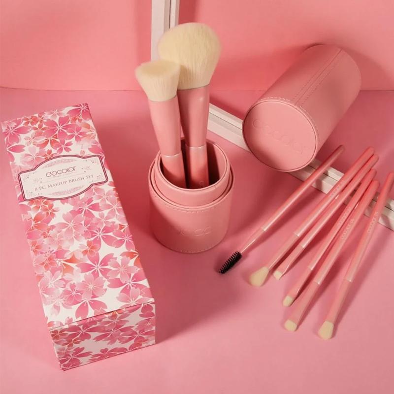 Bộ Cọ Trang Điểm Docolor Cherry Pink 8 Cây